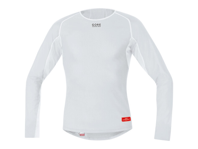 GORE RUNNING WEAR Essential Base Layer WS Thermo Shirt Long Men light grey/white